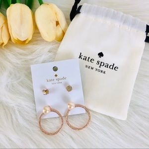 Kate Spade ear jacket stud set